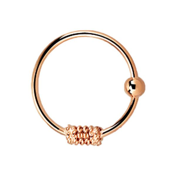 Rose Gold Plated Sterling Silver Nose Hoop