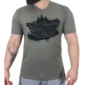 W Famous Greywash Logo T Shirt Medium
