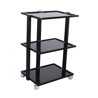 Three Tier Glass Shelved Trolley