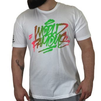 WF Logo T Shirt Pink & Green Large