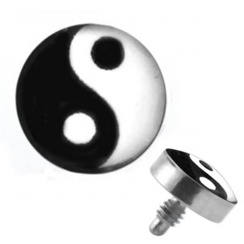 TITANIUM Dermal Top Ying-Yang (5) 1.2x4mm