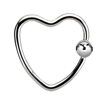 SURGICAL STEEL Daith Heart (5) 1.2mm