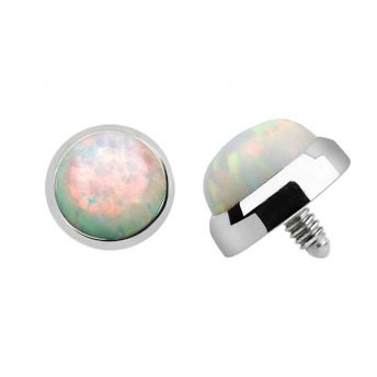 TITANIUM Dermal Top Clear Opal (5) 1.2x5mm