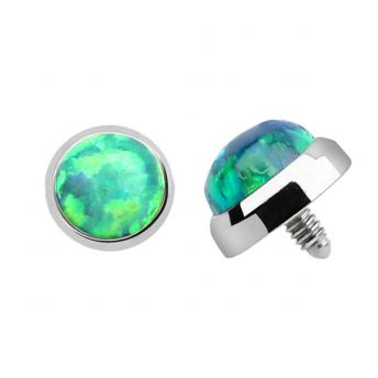 TITANIUM Dermal Top Green Opal (5) 1.2x5mm
