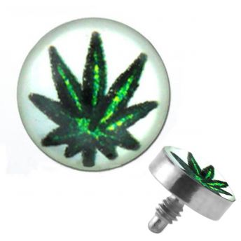 TITANIUM Dermal Top Marijuana (5) 1.2x4mm