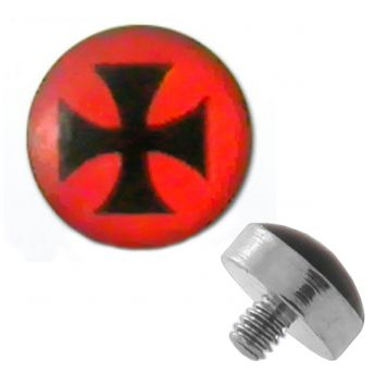 TITANIUM Dermal Top Iron Cross (5) 1.2x4mm
