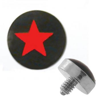 TITANIUM Dermal Top Red Star (5) 1.2x4mm