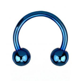 ANODISED Titanium Circular Barbel Blue (5) 1.6x12mm
