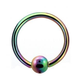 ANODISED Titanium BCR Rainbow (5) 1.6x12mm