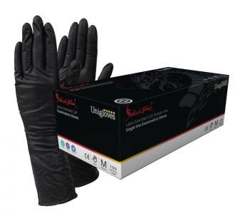 Select Black LONG CUFF Latex Gloves XS