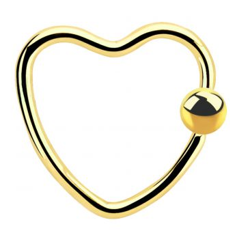 Daith Heart BCR 1.2mm Anodised Steel Gold (5)