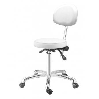 Salon Seat White 38 x 36 x 54-72cm