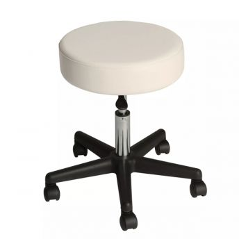 Affinity Rolling Stool in Biscuit