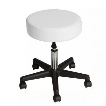 Affinity Rolling Stool White