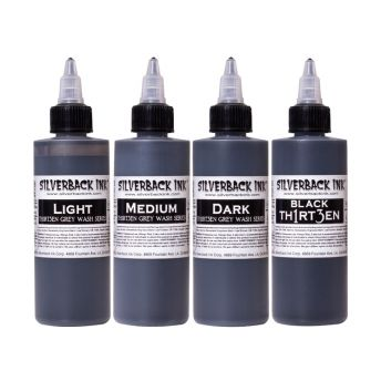 Silverback Black TH1RT3EN Greywash 4 x 4oz SET