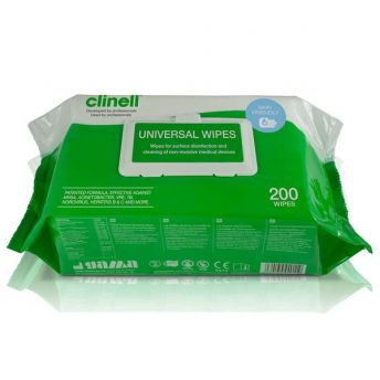 Clinell Disinfecting Hand/Surface Wipes (200)