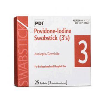 Povidone Iodine Swab Sticks (50)