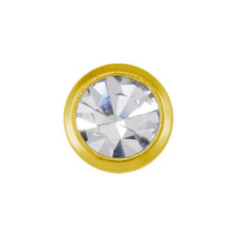 Studex Mini April Crystal Bezel Gold Plated (12)
