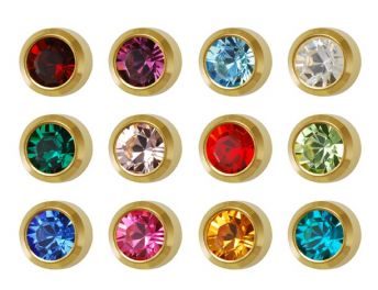 Studex Regular Birthstones Bezel Assorted Gold Plated (12)