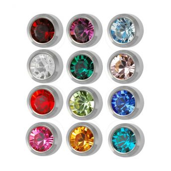Studex Regular Birthstones Bezel Assorted Stainless (12)