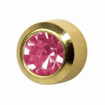 Studex Regular October Rose Bezel Gold Plated (12)
