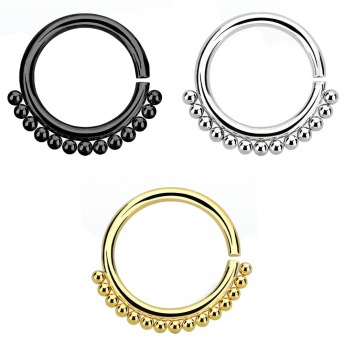 Annealed Beaded Septum Ring