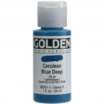 Golden Acrylic DRAWING INK - Cerulean Blue Deep 30ml