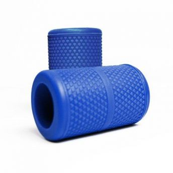 Blue Knurled 13mm grip Cover