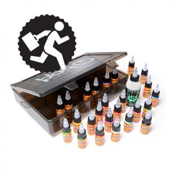Eternal 25 Bottle 1/2oz Travel Set with 4oz Stencil Stuff