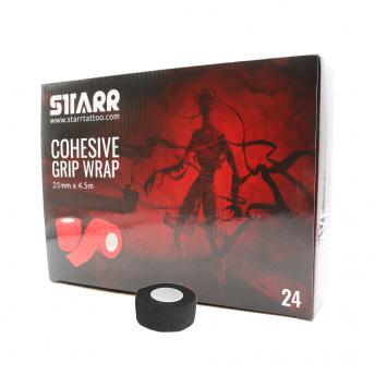 Starr Cohesive Grip Wrap BLACK 25mm
