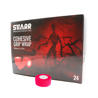 Starr Cohesive Grip Wrap NEON PINK 25mm