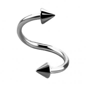 Titanium Coned Spiral Bars 1.2mm