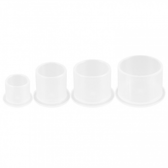 Stable White Ink Caps (1000) XL-17mm