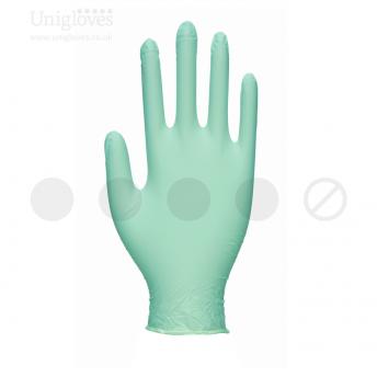 Green Pearl Powder Free Nitrile SMALL