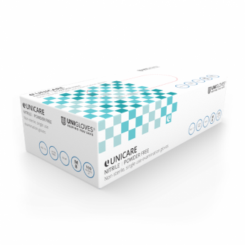 Blue P F Unicare Nitrile Gloves
