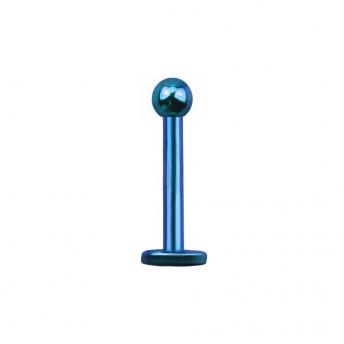 Titanium Labret Stud 1.2mm - Blue