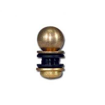 Custom Ball Back Post 8/32 Brass