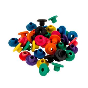 Multi Coloured Top Hat Grommets (50)