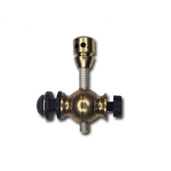 Drilled Brass Front Post - Metric Thread