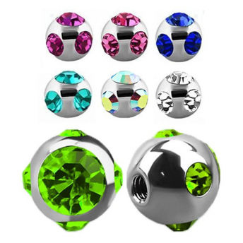 Titanium Multi Jewelled Balls 1.2mm