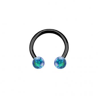 Opal Titanium Circular Barbells 1.2mm - Dark Green
