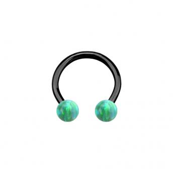 Opal Titanium Circular Barbells 1.2mm - Green