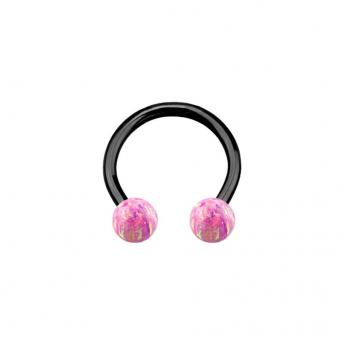 Opal Titanium Circular Barbells 1.2mm - Pink