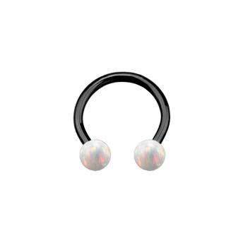Opal Titanium Circular Barbells 1.2mm - White