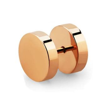Anodised Stainless Rose Gold Plated Plugs