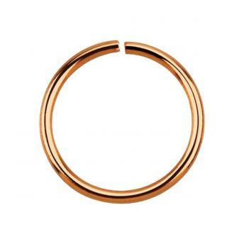 Stainless Rose Gold Seamless Ring 0.8mm