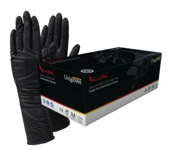 Select Black Latex LONG CUFF Gloves