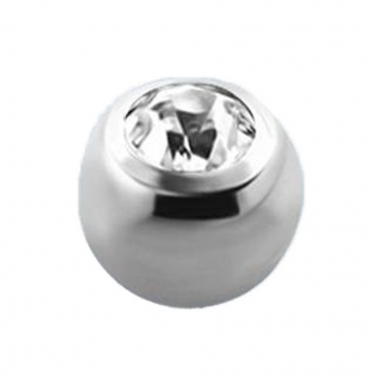 Titanium Jewelled Ball (Clear) 1.6mm